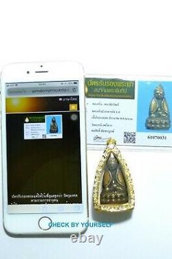 Certificated Thai Buddha Amulet Phra Kring Pawares Wat Suthat Rare Bronze