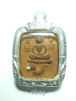 Certificated Thai Buddha Amulet Phra Lp Pan Ride The Rooster