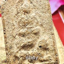 Clay Buddha Thai Amulet LP Parn Be2474 Ride Lion KruDongTan Guardian Cert #16746