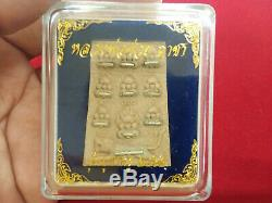 Closing Eye Buddha Phra Pidta Pendant By LP Chuai Thai Amulet Charm Wealth Luck