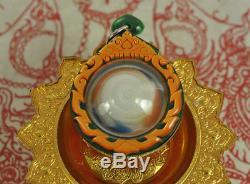 Cosmic LEKLAI Kaew Power Thai Buddha AMULET Charm Jewel wealth Rich LP Somporn