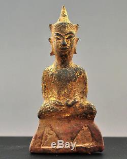 Crowned Buddha, Phra Ngan amulet, late Ayutthaya, Thailand / Siam, Asian art
