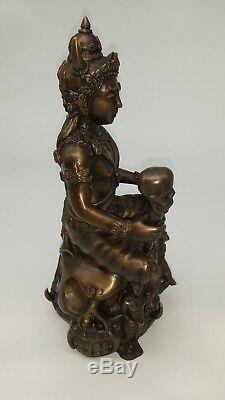Death Lord GOD Magic Thai Buddha Amulet statues BRASS ART ORIGINAL