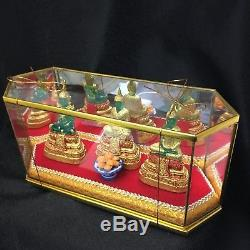 EMERALD BUDDHA Statue 3 Seasons Thai Amulet Blessed Sacred Resin Worship Box Set