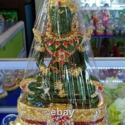 Emerald Buddha StatueThai Gem leklai Meditation Amulet Green Antique Sacred