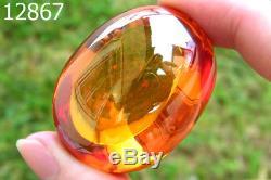 Energize Yellow Orange Naga Eye Gem Crystal Medium Soap Luck Thai Buddha Amulet