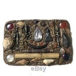 Ganesh Phra Thep Lok Udon Wessuwan Giant Naga Ball Stone Wood Thai Buddha Amulet