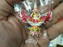 Garuda Bird God Phra Ya Krut Buddha Thai Amulet Charm Pendant Real