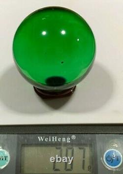 Gems Naga Eye Crystal Real Lucky Buddha Talisman Rich Money Thai Amulet Green