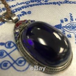 Super Power Deep red Naga Eye Round Shape CAVE Crystal Gem Amulet Bring Goodluck