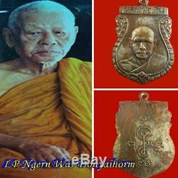 Genuine Thai Amulet Buddha From Temple Coin 1st Batch LP NGERN Best Luck BE 2493
