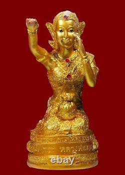 Genuine Thai Amulet Buddha Nang Kwak Nang Kuu Lucky Rich Old ExtraRare Talisman