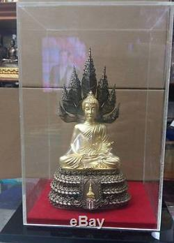 Gilt Bronze Naga Buddha Statues Princes Royal Thai Amulet Wealth Magnificent