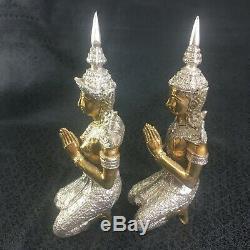 Guardian Angel Statue Figurine Thai Buddha Amulet Lucky Charm 9 Fengshui 2pcs