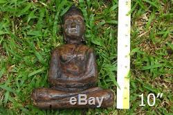 HUGE LP Somphon Natural LEKLAI Carved Bucha Buddha Anti Magic Thai Amulet Statue