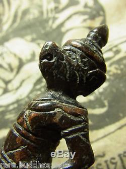 Hanuman, Mai Kae, Luang Phor Soon, Wat Sala Goon, Thai Buddha Amulet writing Yun