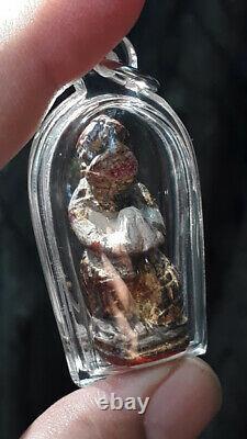 Hanuman, Wood LP BOON Thai Real Antique Magic Amulet For Money Good Lucky Buddha