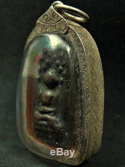 Healing Power Treatment Buddha Klongtakian Amulet Thai Statue Bronze Sculpture