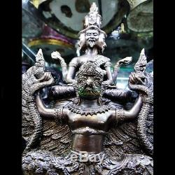 Hermit 9 Face On King Garuda Statue Lp Nong Powerful Protect Thai Buddha Amulet
