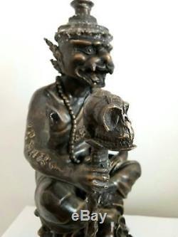 Hermit Lersi Thai Buddha Spiritual thai amulet Arjan Manit statue soul metal