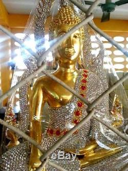 Holy Buddha Statues Crystal Rhinstone WatThasung Thai Buddha Amulet Billionaire