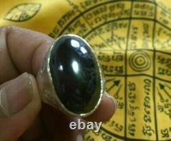 Huge Power Money Ring 11 Leklai 925 Talisman Buddha Lek Nam Pee Thai Amulet Sex