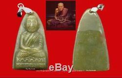 Jade Lp Toud Wat Changhai Caverd Holy Jade Pendant Buddha Thai Amulet