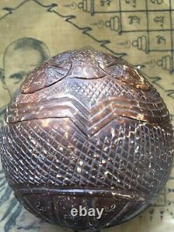 Kala Kae Rahu Coconut Shell Carving L P Noi Wat Srisathong Thai Buddha Amulet