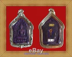 Khunpaen Prai Phannigar Wat Sanpramoung No18 Silver Case Buddha Real Thai Amulet