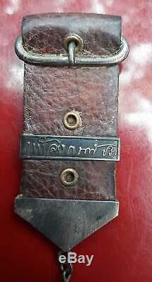 King RAMA 5 Silver Coin Thai Buddha Amulet Best For Lucky Talisman Powerful