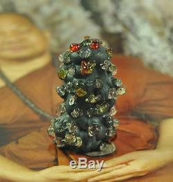 Kod Phee + LEKLAI Kaew stone crystal Mass Natural Lp Somporn Thai buddha Amulet