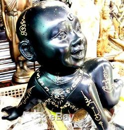 Kumanthong Boy Gost Prai Nin LP Udomsap Thai Buddha Amulet Wealth Riches Lucky