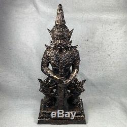 LEK NAM PEE 13 TAO WESSUWAN Statue Giant Talisman Thai Amulet Buddha fetish old