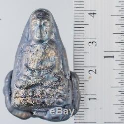 LEKLAI KOD PHEE LP Tuad protect magic lucky Rare thai buddha amulet 802