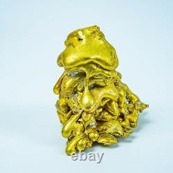 LEKLAI THONGPLALAI gold CORE protect magic lucky Rare thai buddha amulet 965