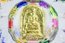 LEKlAI thongplalai gold phra somdej thai buddha amulet real power protect 652
