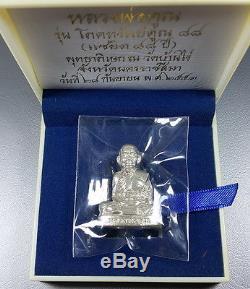 Lp Koon Wat Banrai Thai Amulet Buddha Pokasab88 Saeyid88 Silver#1 Be. 2553 Lucky