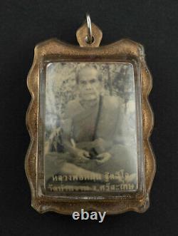 LP Moon Roop Tai Gurunussati Phra Buddha Takrut Wat Banjan Amulet Thai 2231