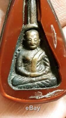 LP Ngern Wat Bangklan, Phim Job Lek, Thai Amulet Buddha, Lucky Pendant, BE. 2460