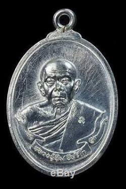 LP. TIM WAT RAHARNRAI SOLID SILVER THAI BUDDHA AMULET Talisman Charm Beautiful