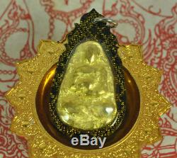 LP Toh Gold LEKLAI Thong Pha Lai Thai buddha Amulet LP Somporn LEK LAI pendant