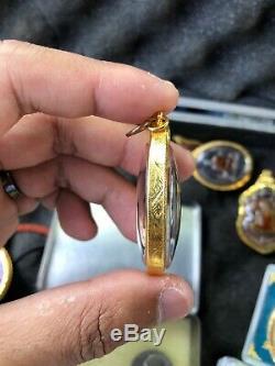 LUCKY Thai Buddha Amulet Pendant 18k Solid Gold Case