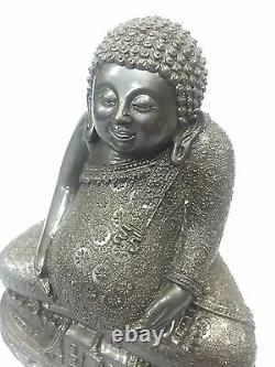 Large Sankajai Happy Buddha Meditation Thai Amulet Fast Rich Lp Pern Statue 9721