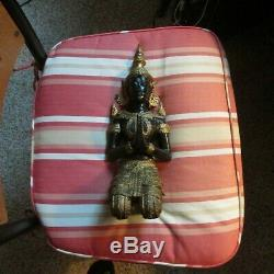 Large Vintage Thai Gold Gilt Bronze Statue Guardian Angel Buddha 13 Height
