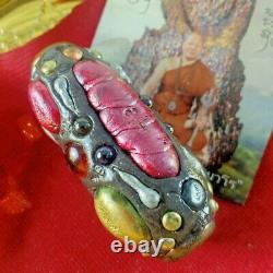 Leklai Amulet Buddha Thai Takrut Wealth Somporn Lucky Protect 5.5 Heal good