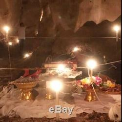Leklai Amulet Thai Buddha Protect Rare Magic Lp Somporn StoneLucky Wealth Rainbo