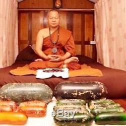 Leklai Amulet Thai Buddha Protect Rare Magic Lp Somporn StoneLucky Wealth suriya