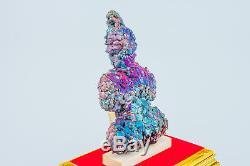 Leklai NAKA Buddh Rainbow 7Color protect magic lucky Rare thai buddha amulet 732