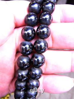 Leklai Necklace Real 108 Black LP Huan Thai Amulet Buddha Strong Power Life Luck
