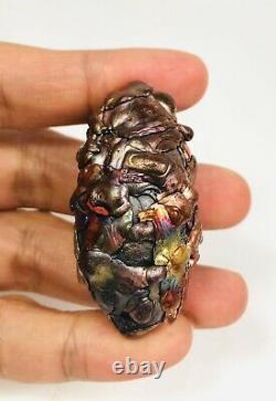 Leklai Noni 7 color SURIYAN RACHA Thai buddha Amulet magic stone lp somporn Rare